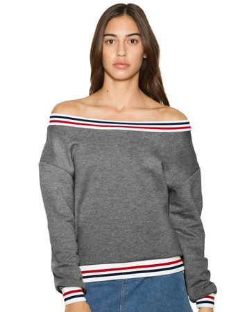 American Apparel: Women`s Heavy Terry Sport Sweatshirt HVT4397W