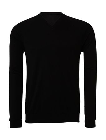 Bella+Canvas: Unisex V-Neck Lightweight Sweater 3985 – Bild 2