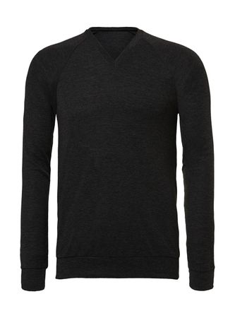 Bella+Canvas: Unisex V-Neck Lightweight Sweater 3985 – Bild 4