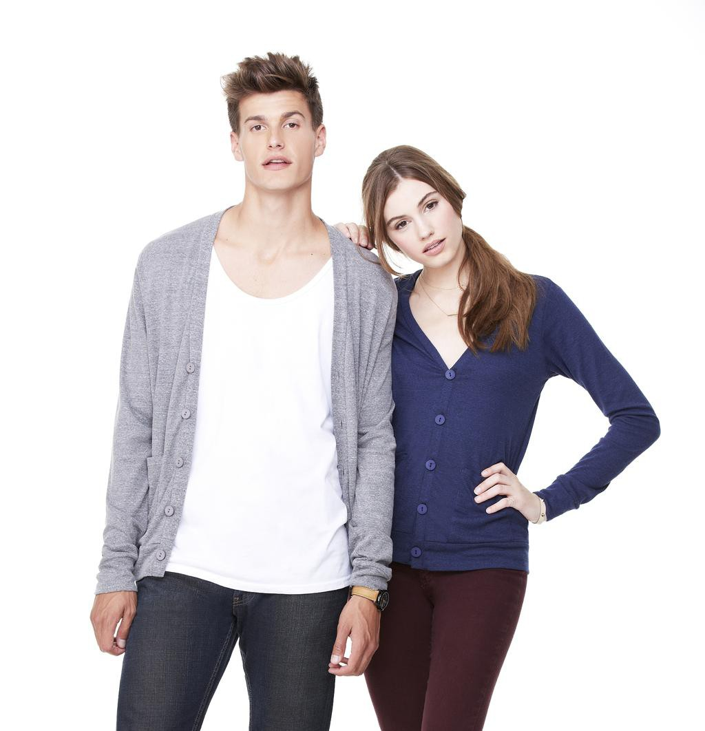 Bella+Canvas: Unisex Triblend Cardigan 3900