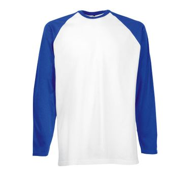 Fruit of the Loom: Long Sleeve Baseball T-Shirt 61-028-0 – Bild 3
