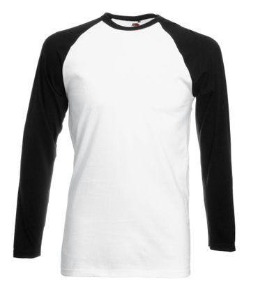 Fruit of the Loom: Long Sleeve Baseball T-Shirt 61-028-0 – Bild 5