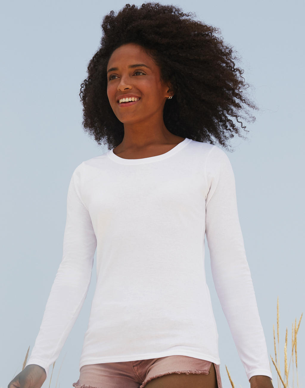 Fruit of the Loom: Lady-Fit Long Sleeve Crew Neck T 61-384-0