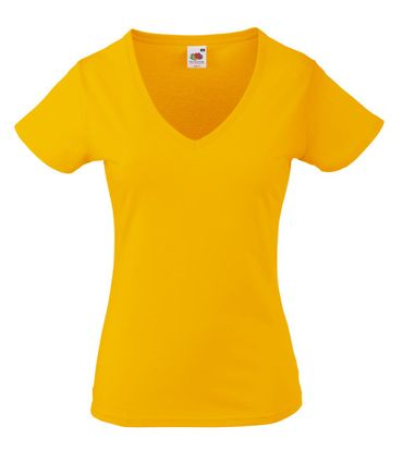 Fruit of the Loom: Lady-Fit Valueweight V-neck T 61-398-0 – Bild 9