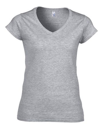 Gildan: Ladies Softstyle V-Neck T-Shirt 64V00L – Bild 4