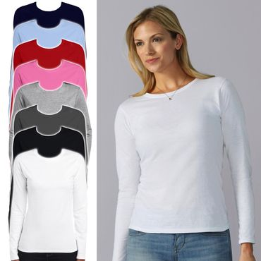 Gildan: Ladies` Softstyle T-Shirt LS 64400L – Bild 1