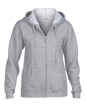 Gildan: Ladies Heavy Full Zip Hooded Sweat 18600FL – Bild 4