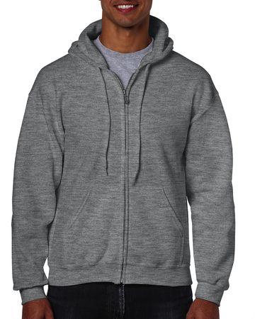 Gildan: Heavyweight Full Zip Hooded Sweat 18600 – Bild 6
