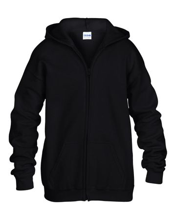 Gildan: Kids` Full Zip Hooded Sweat 18600B – Bild 2