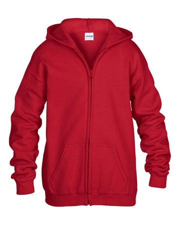 Gildan: Kids` Full Zip Hooded Sweat 18600B – Bild 7