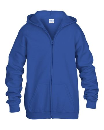 Gildan: Kids` Full Zip Hooded Sweat 18600B – Bild 6