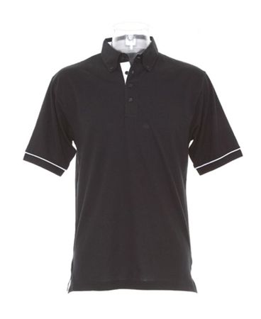 Kustom Kit: Contrast Button Down Collar Polo KK449 – Bild 2